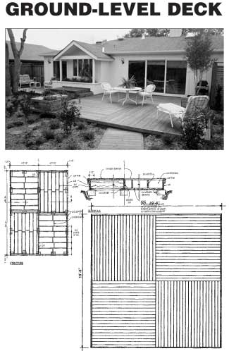 Ground Level Plan Deck Designs